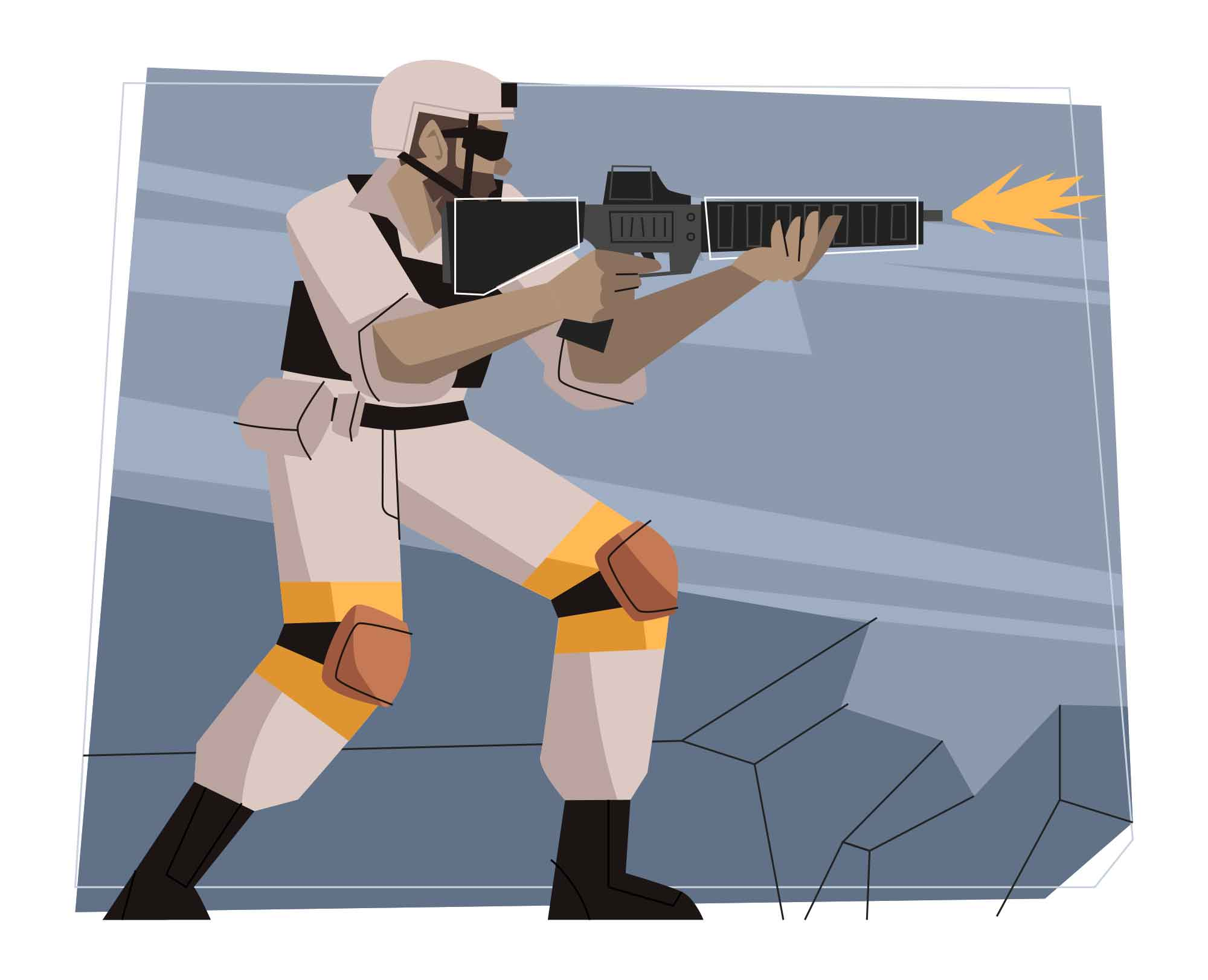 Solider Vector Illustration