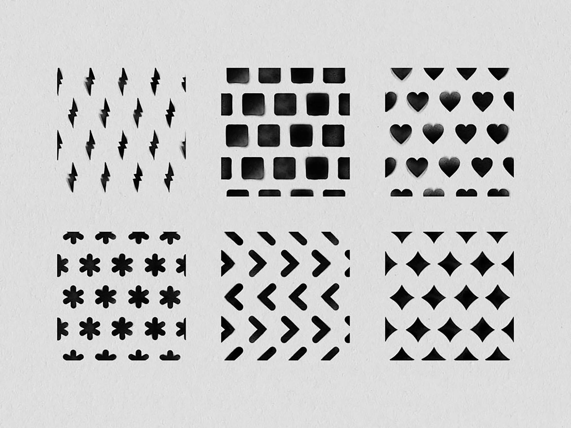 Spray Seamless Patterns 1