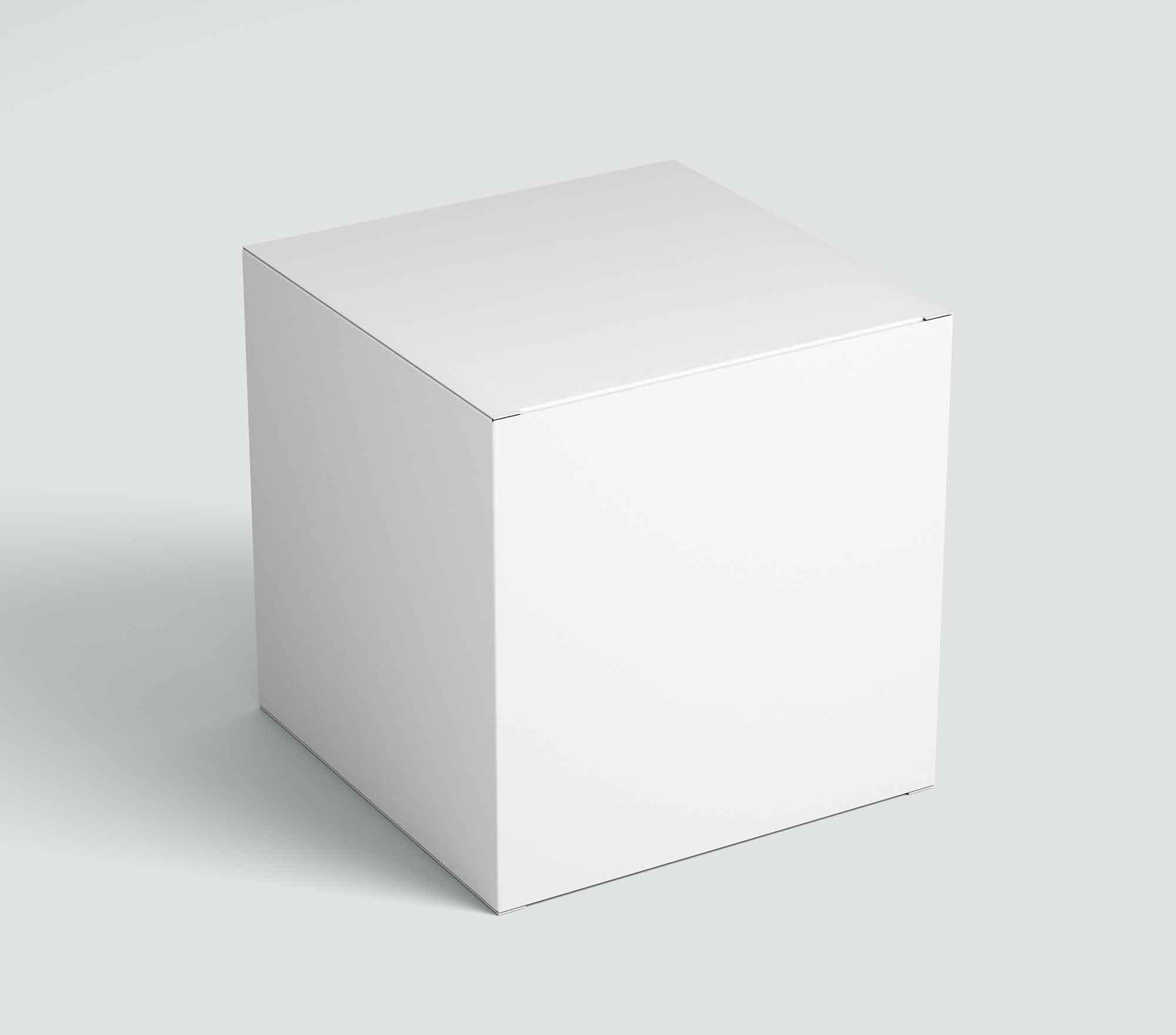 Square Perspective Box Mockup 2