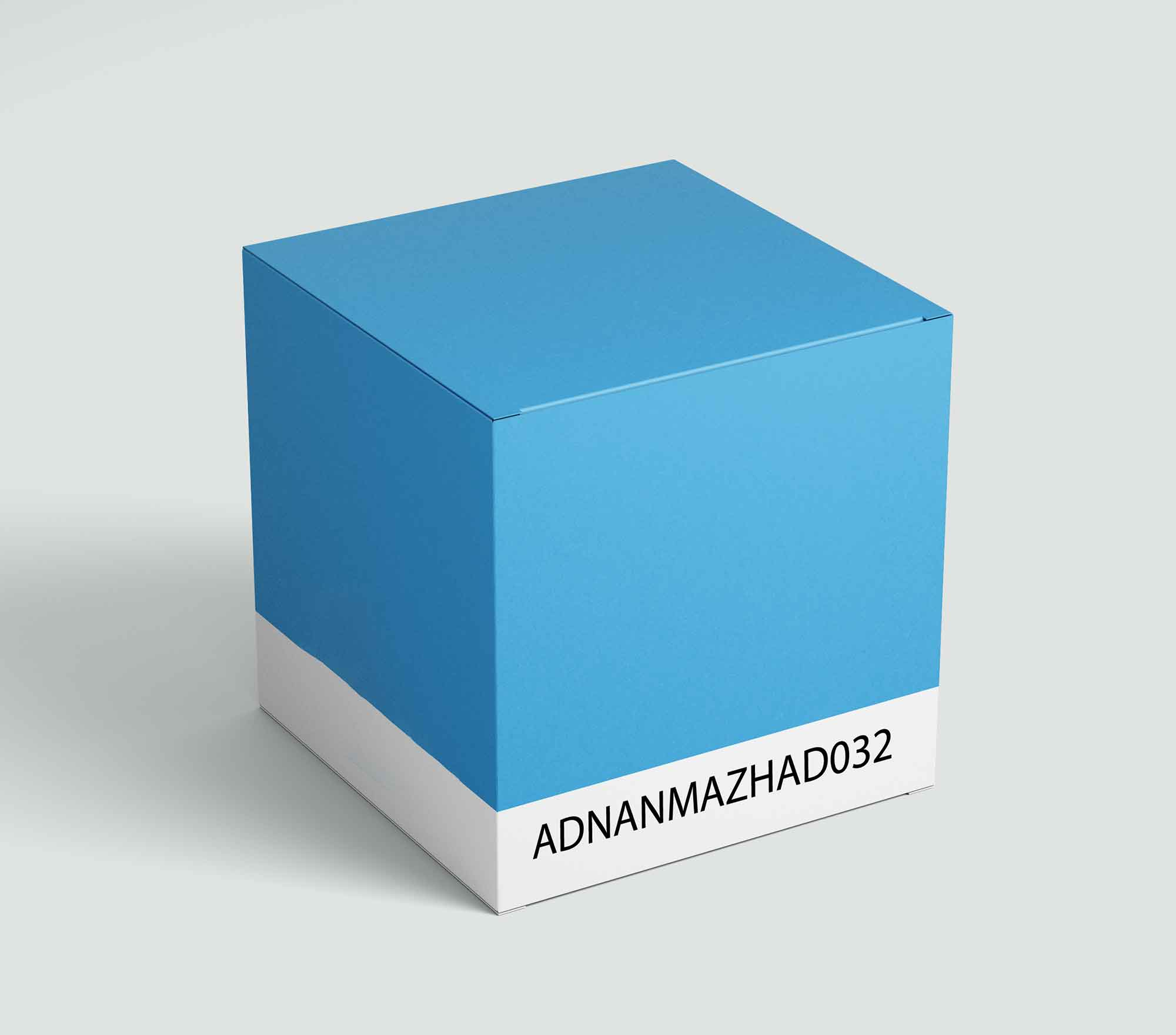 Square Perspective Box Mockup