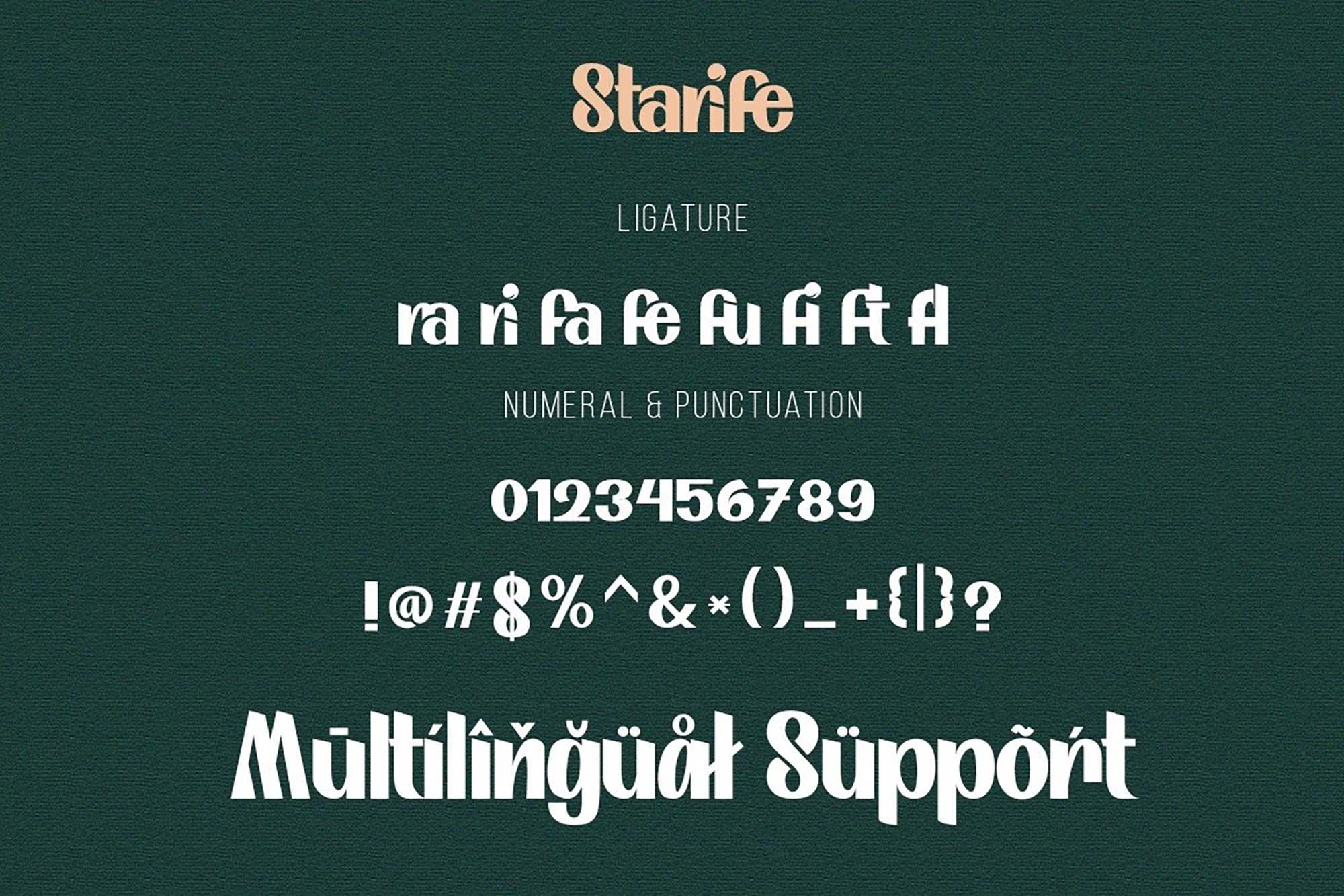 Starife Display Font 3