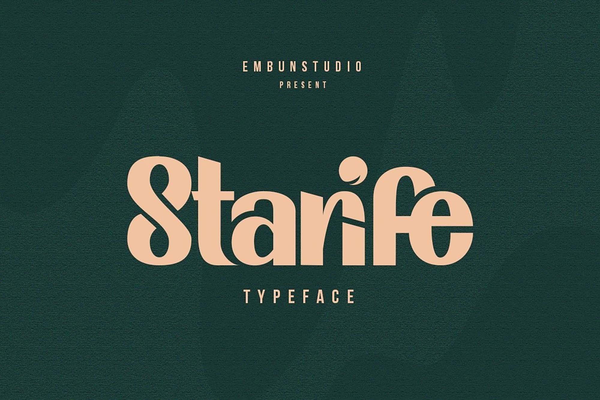 Starife Display Font