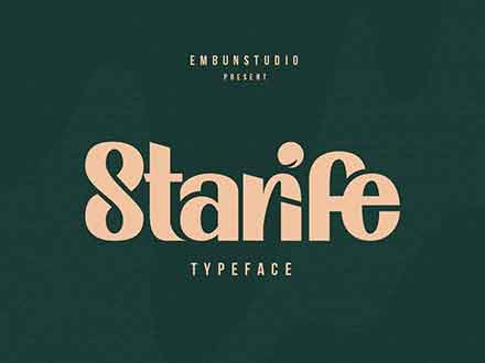 Starife Display Font