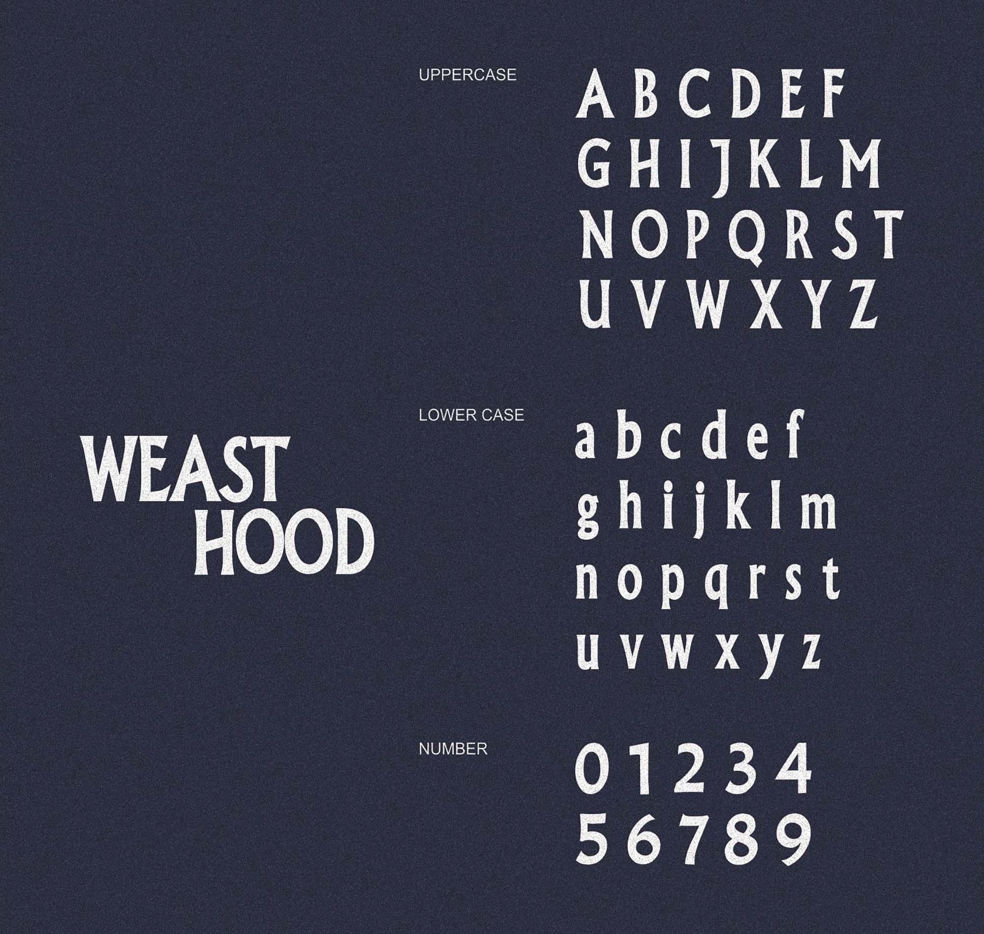 Weast Hood Font 2
