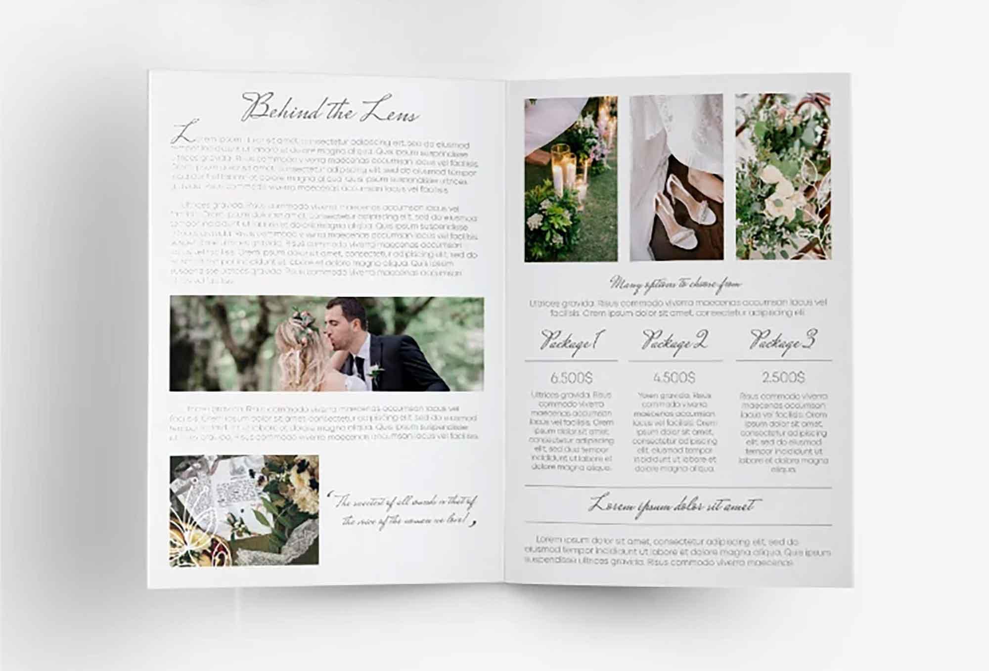 Wedding Photography Bifold Template 1
