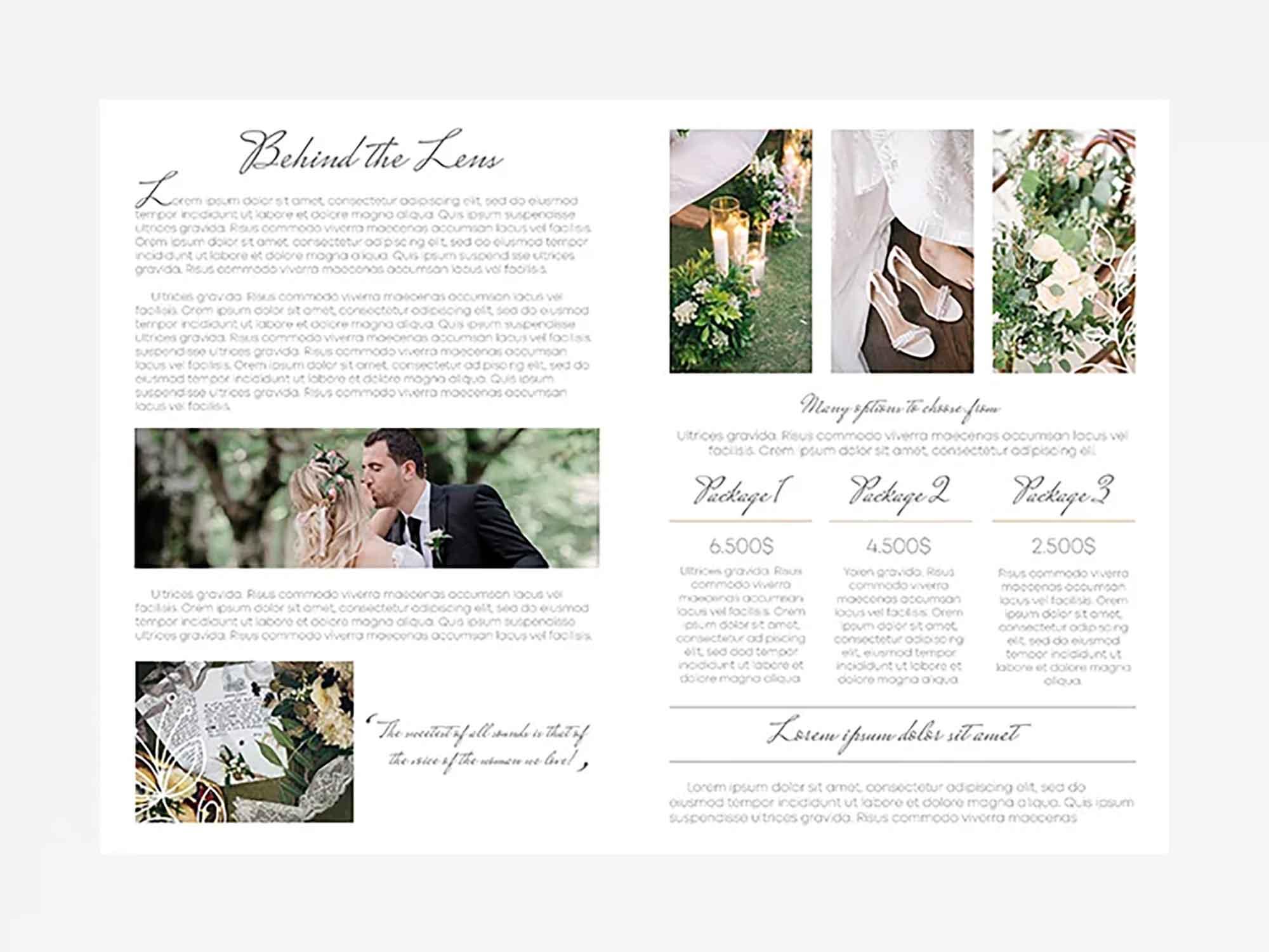 Wedding Photography Bifold Template 3