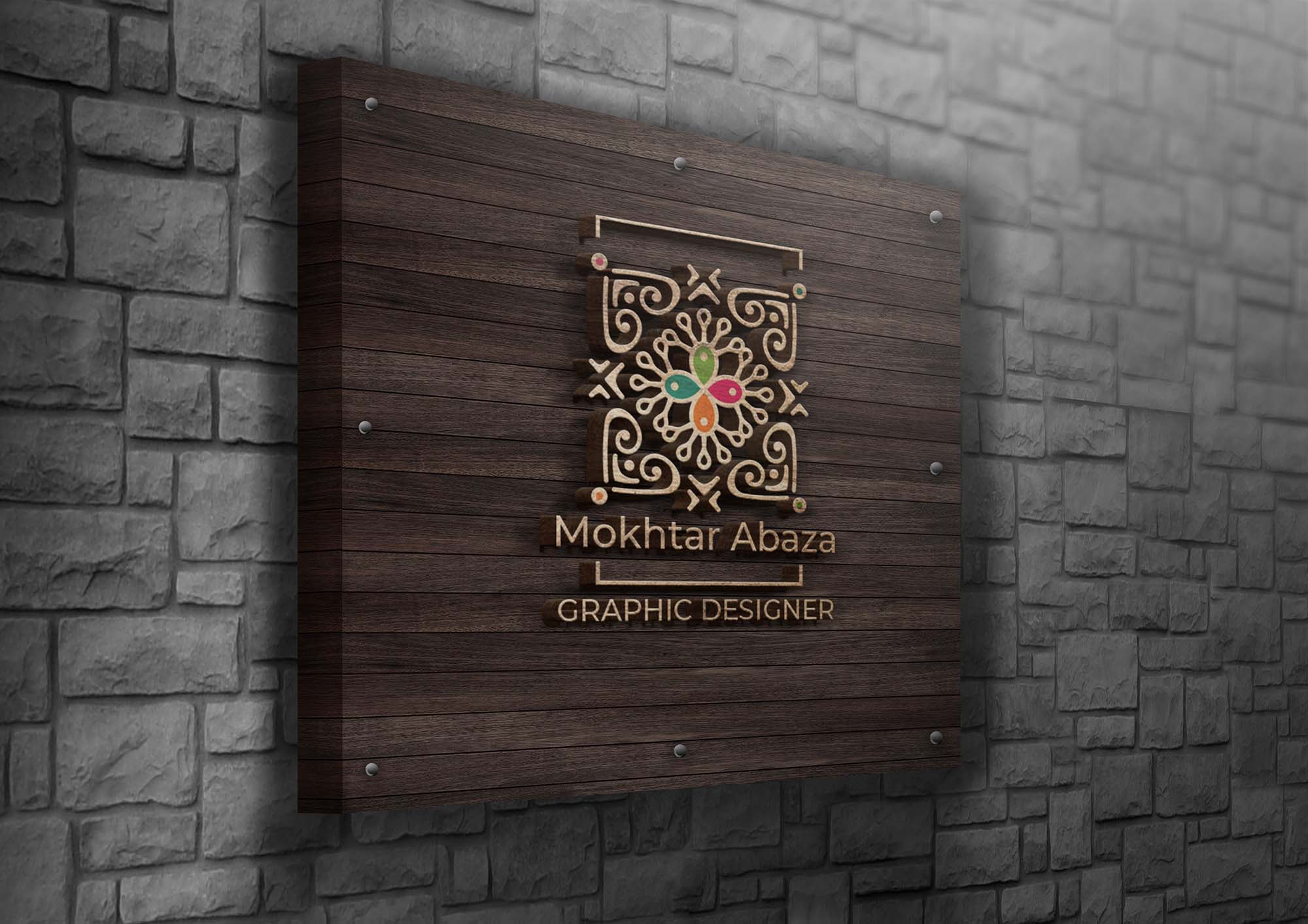 Wooden Logo Mockup 2