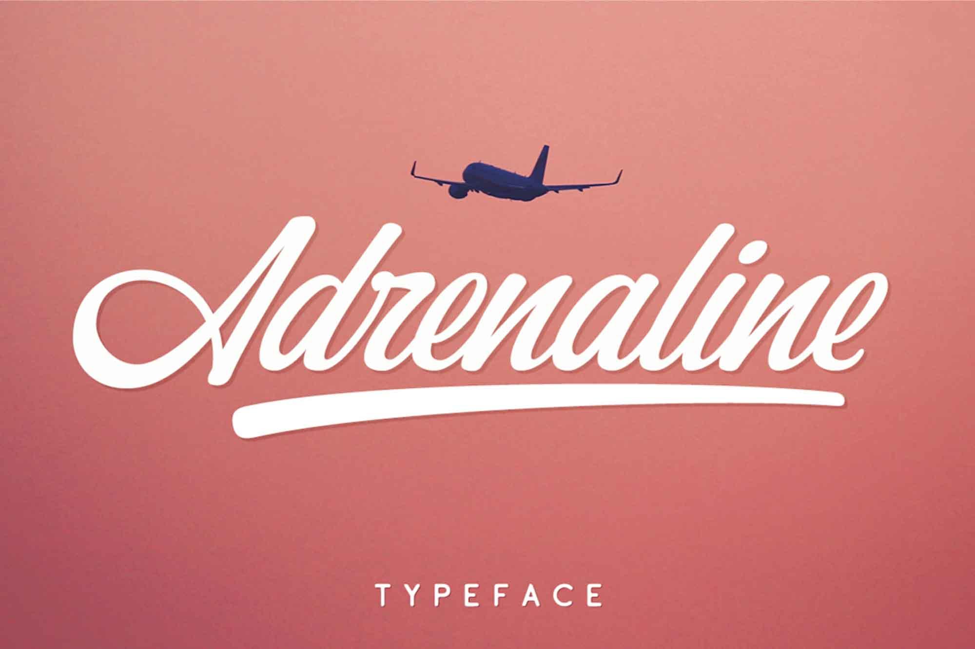 Adrenaline Script Font