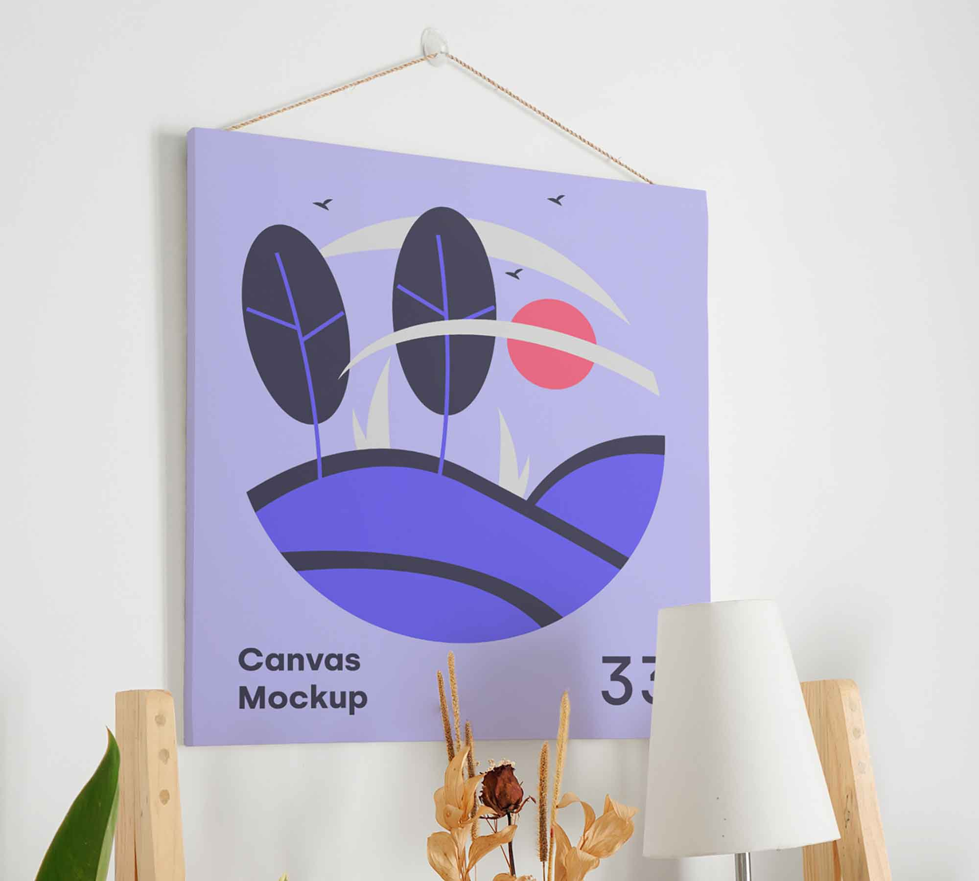 Hanging Canvas Mockup