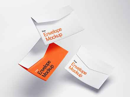 Levitating Envelope Mockups