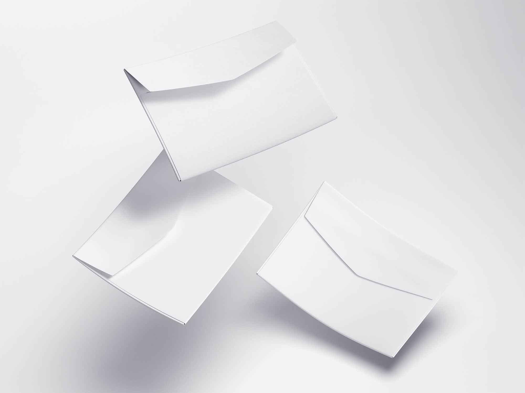 Levitating Envelope Mockups 2