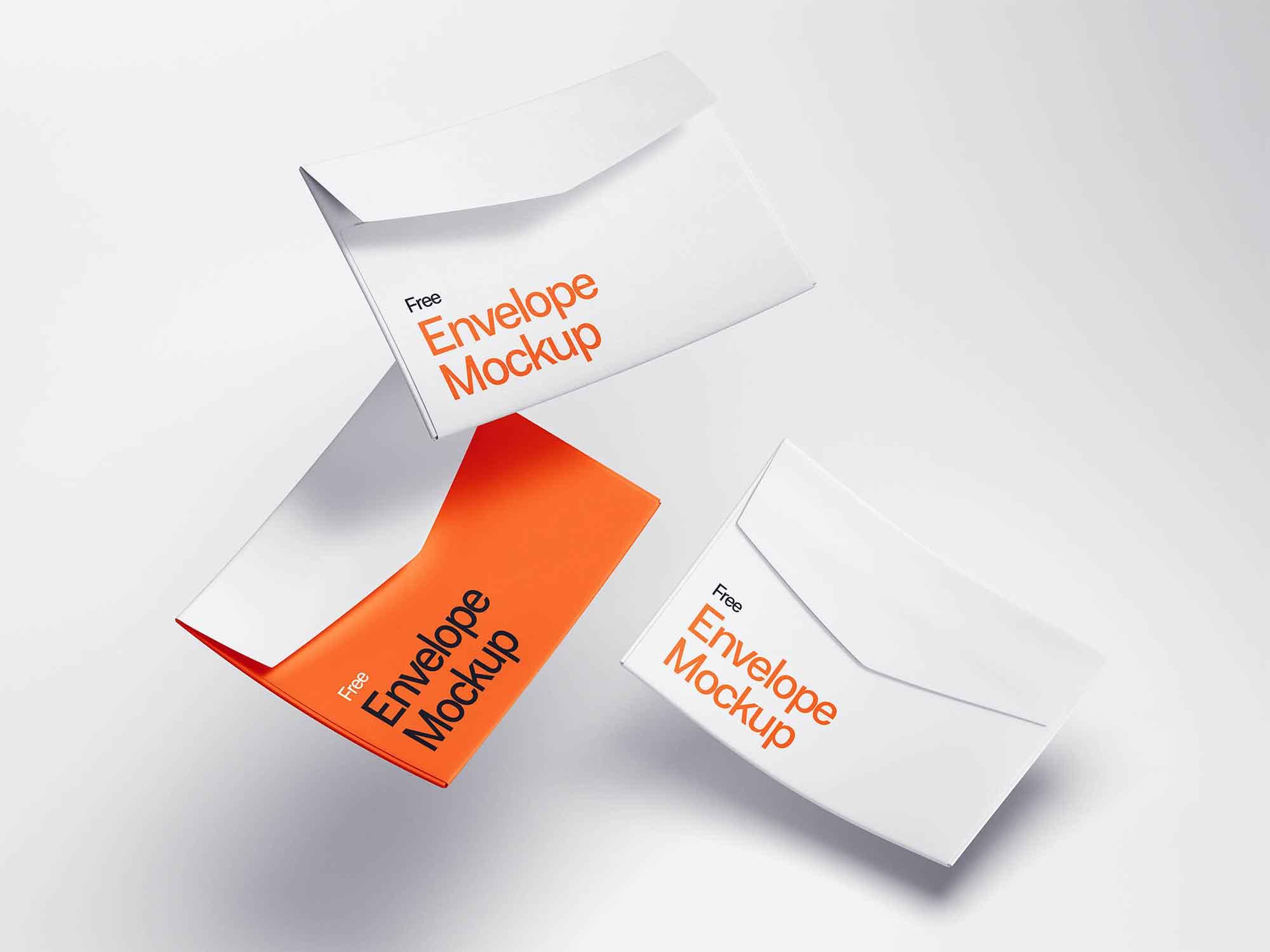 Levitating Envelope Mockups