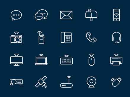 Line Vector Communication Icons