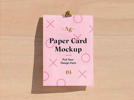 Paper Card Mockup