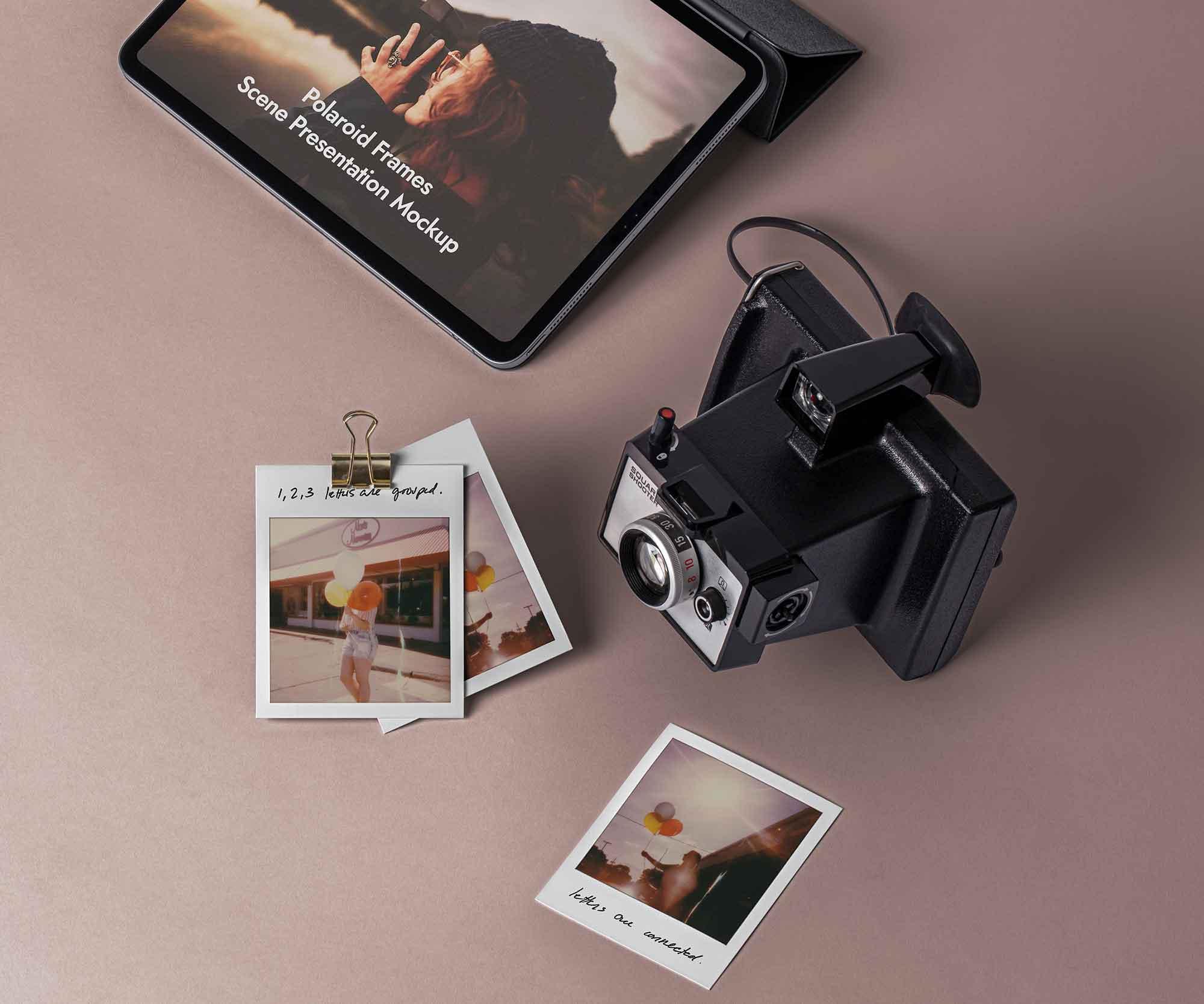 Polaroid Mockup Frames