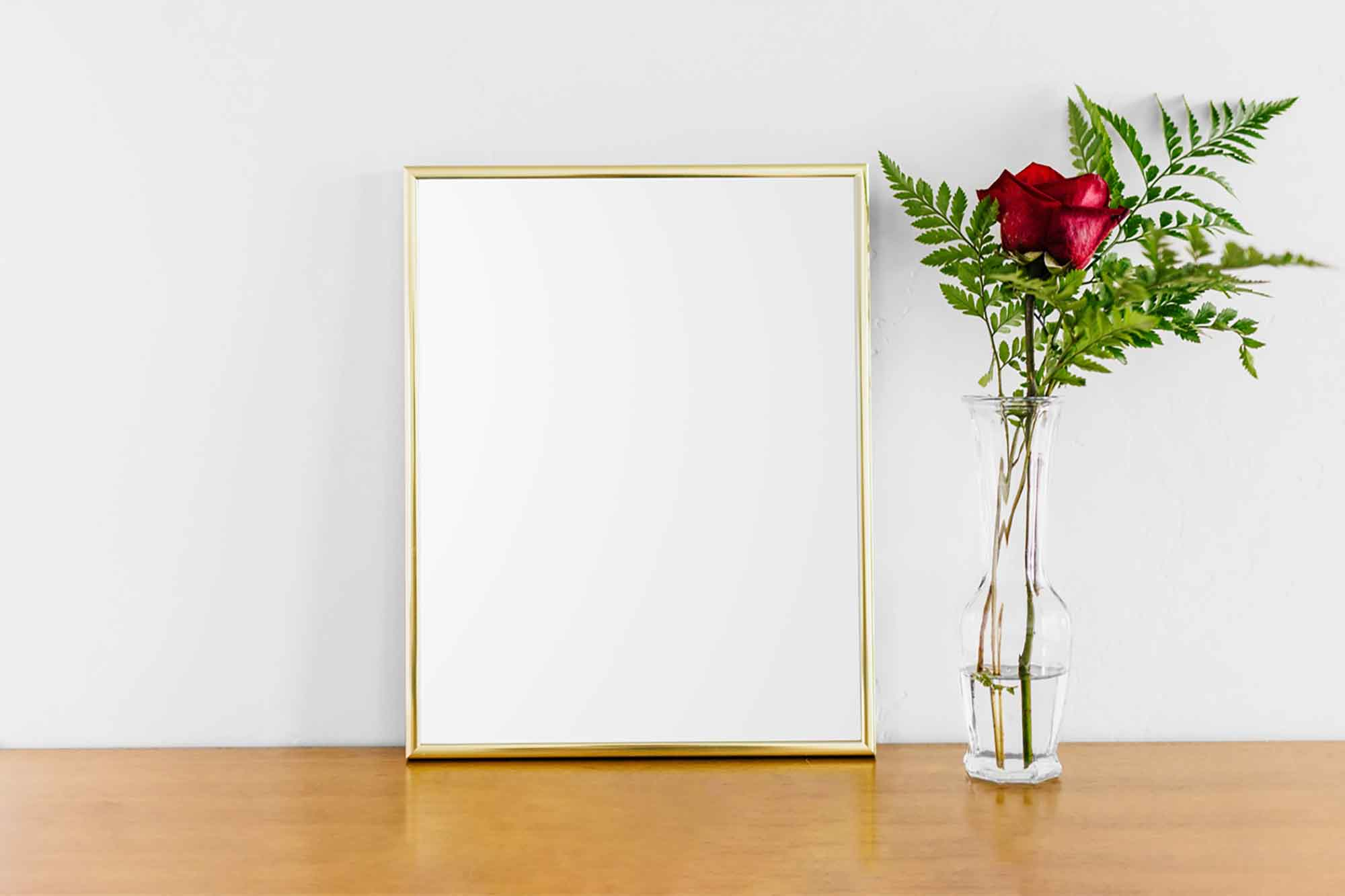 Poster with Gold Frame Mockup 2