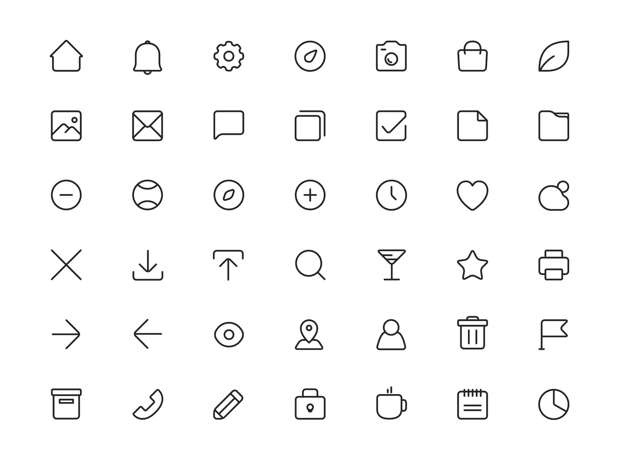 Square Line Ui Icons