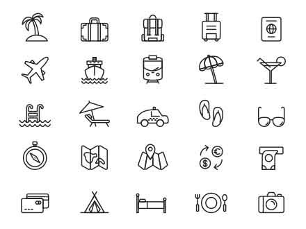 Travel Illustrator Icons