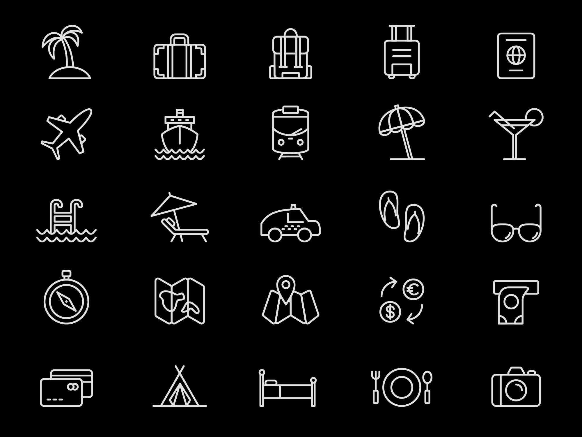 Travel Illustrator Icons 2