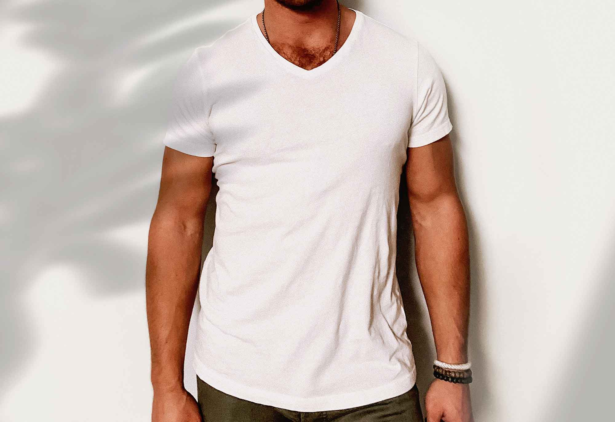 V Neck T-Shirt Mockup 2