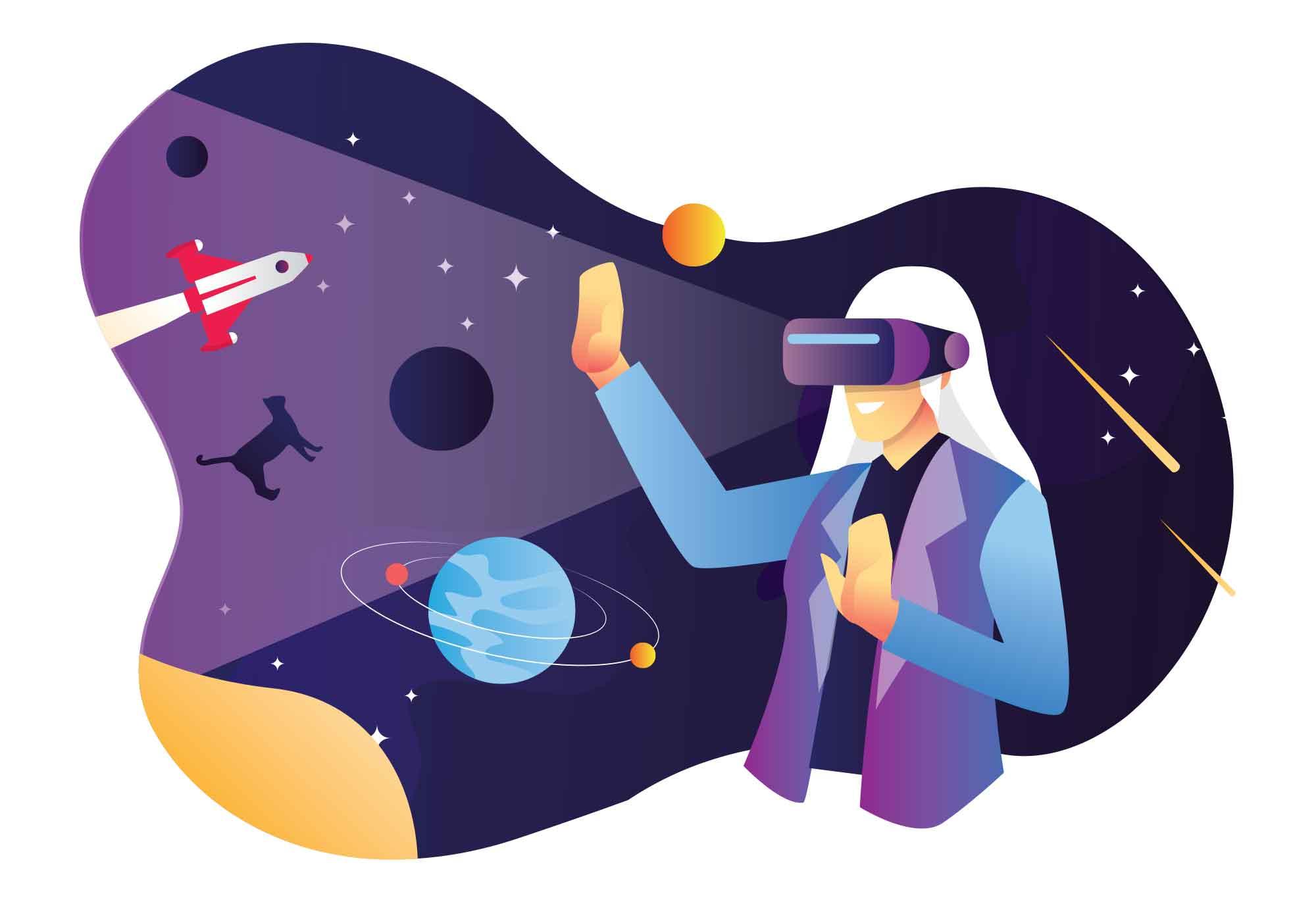 Virtual Reality Vector Illustration