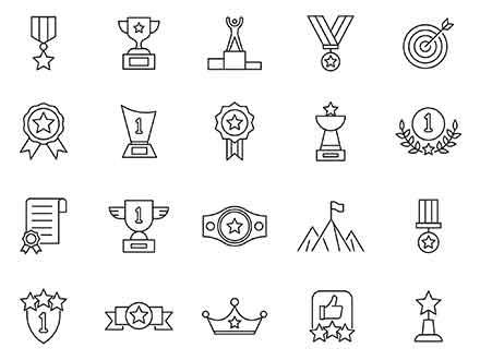 Achievement Vector Icons