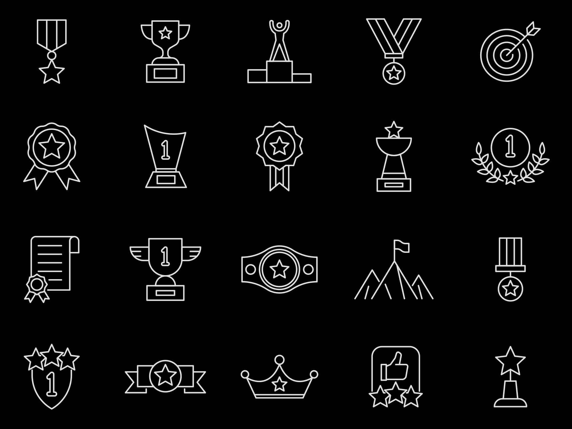 Achievement Vector Icons 2