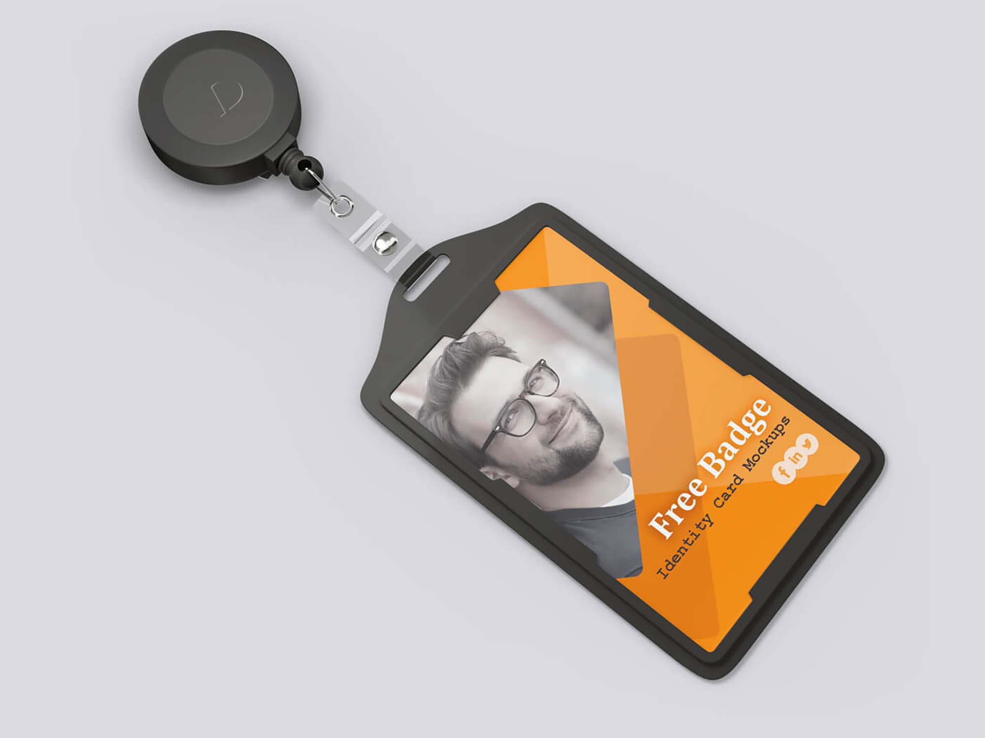 Badge Identity Card Mockup 1