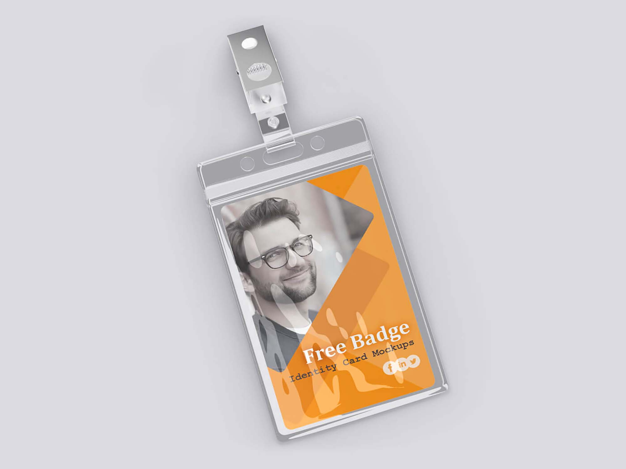 Badge Identity Card Mockup 2