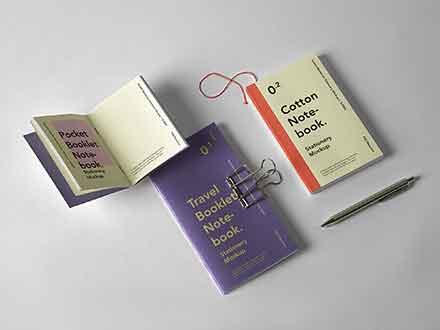 Booklet Notebook Mockup