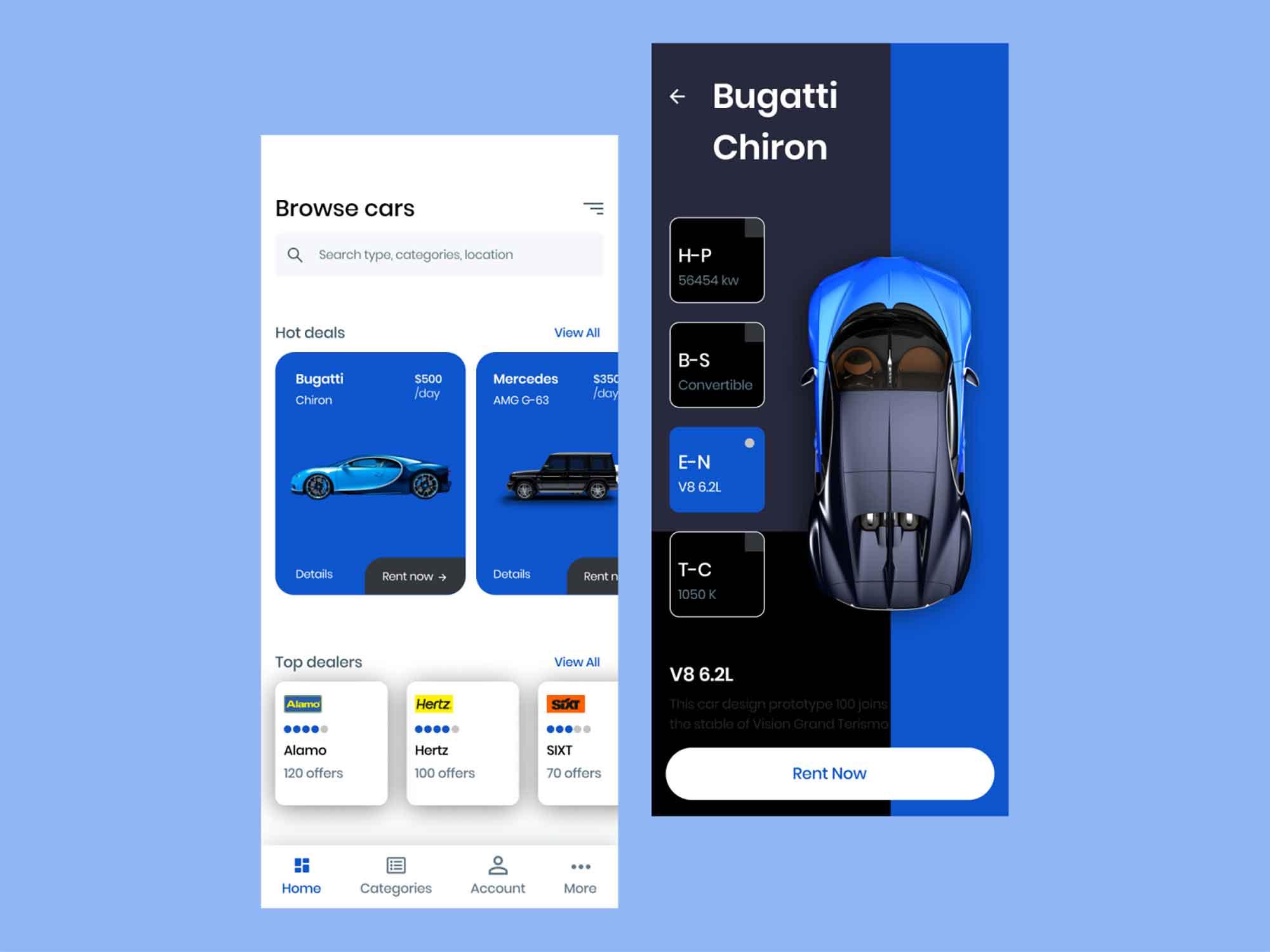 Car Rental App Template