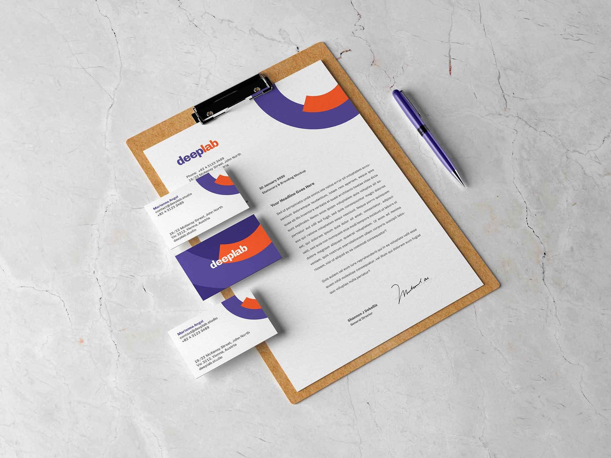 Clipboard Branding Mockup 2