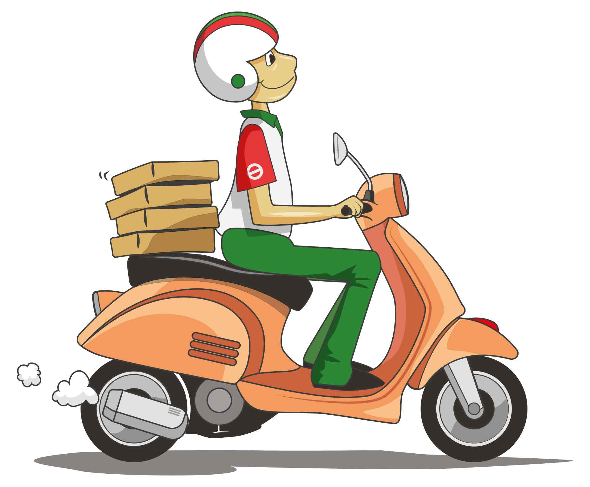 Delivery Scooter Vector Illustration
