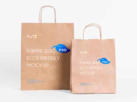 Eco Paper Bag Mockup