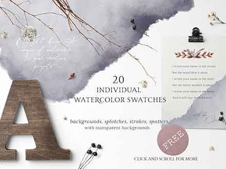 Folklore Watercolor Design Elements