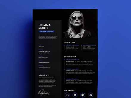 Fresh Resume Design Template