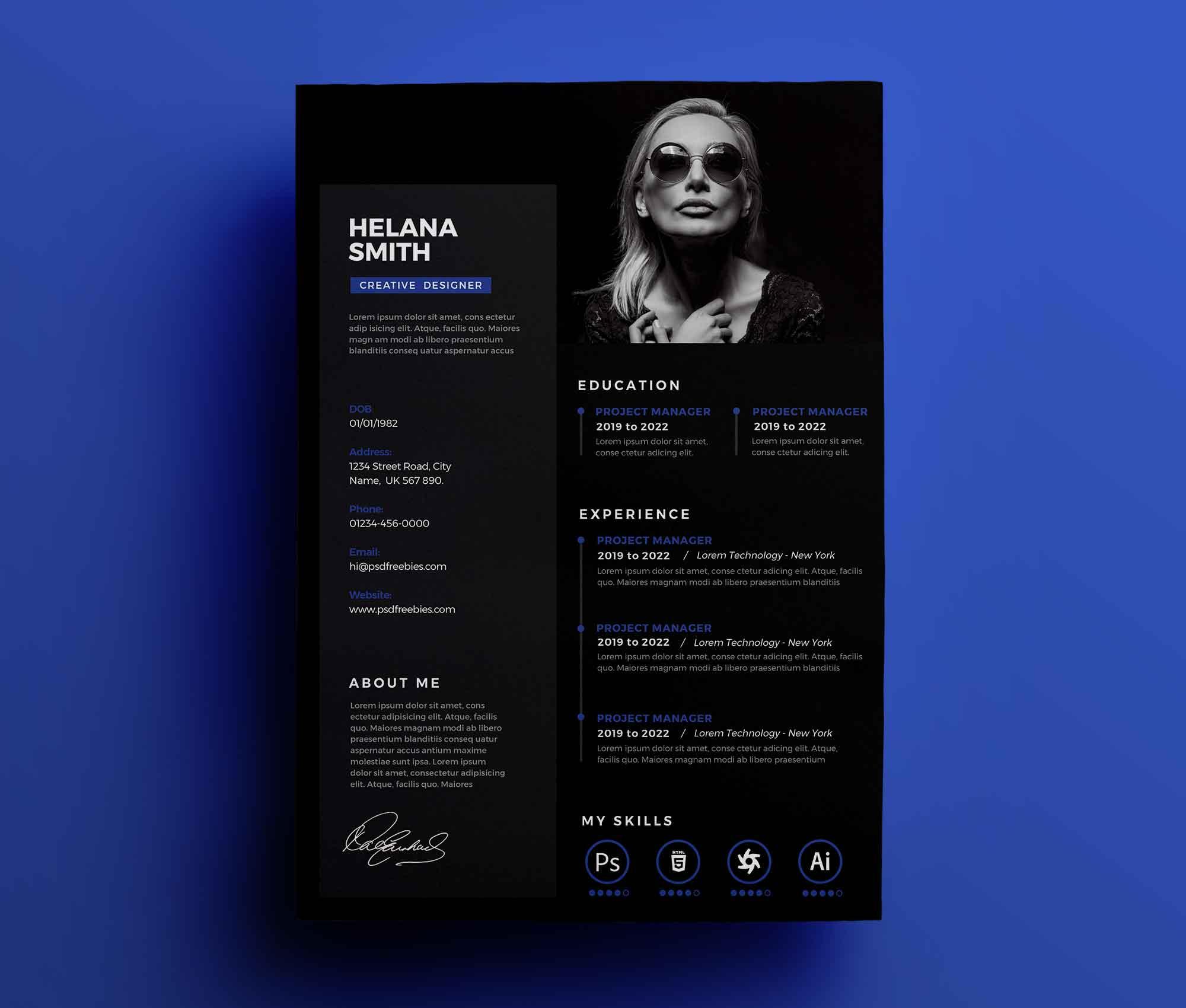Fresh Resume Design Template