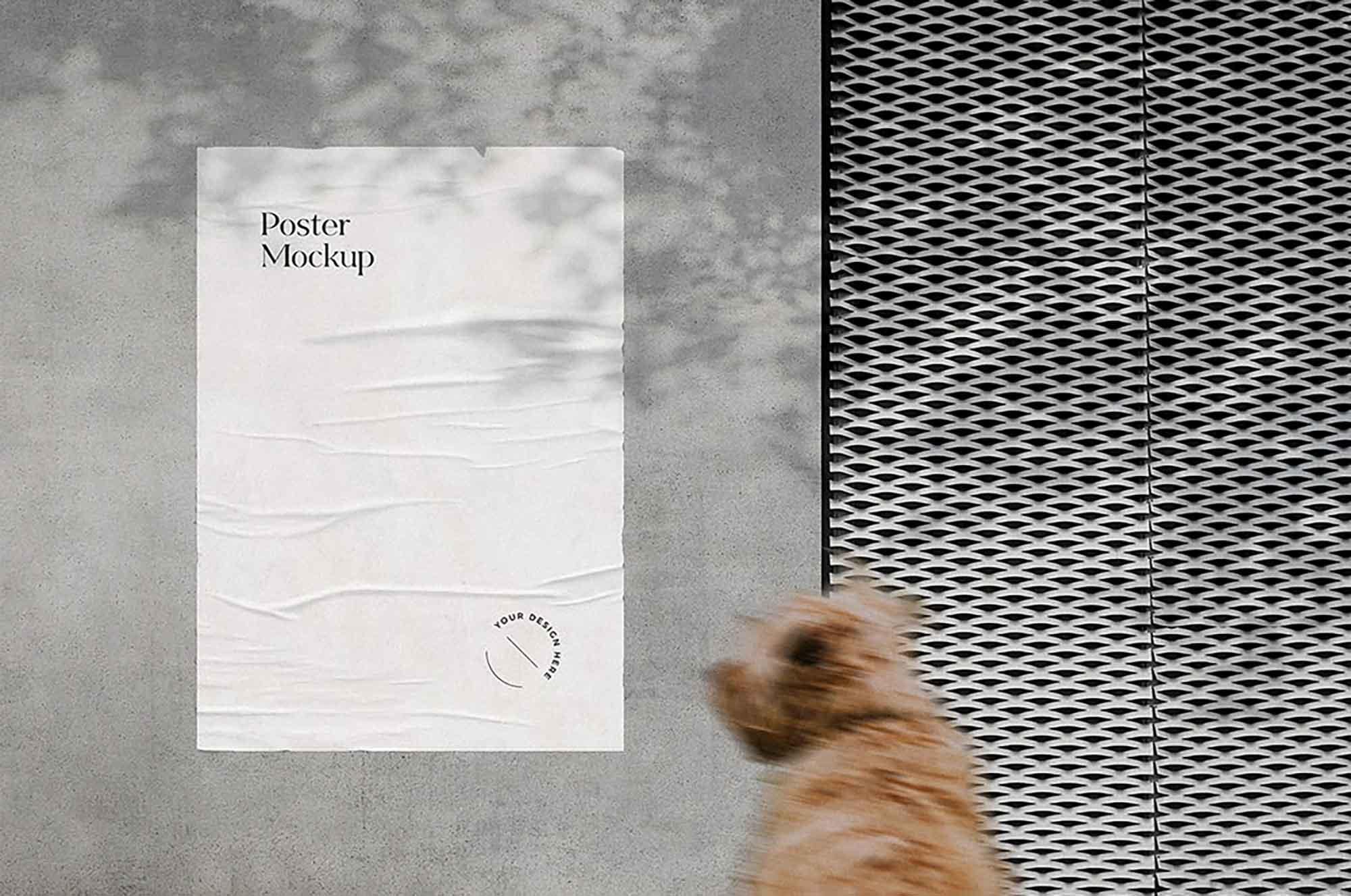 Glued Poster Mockup 2