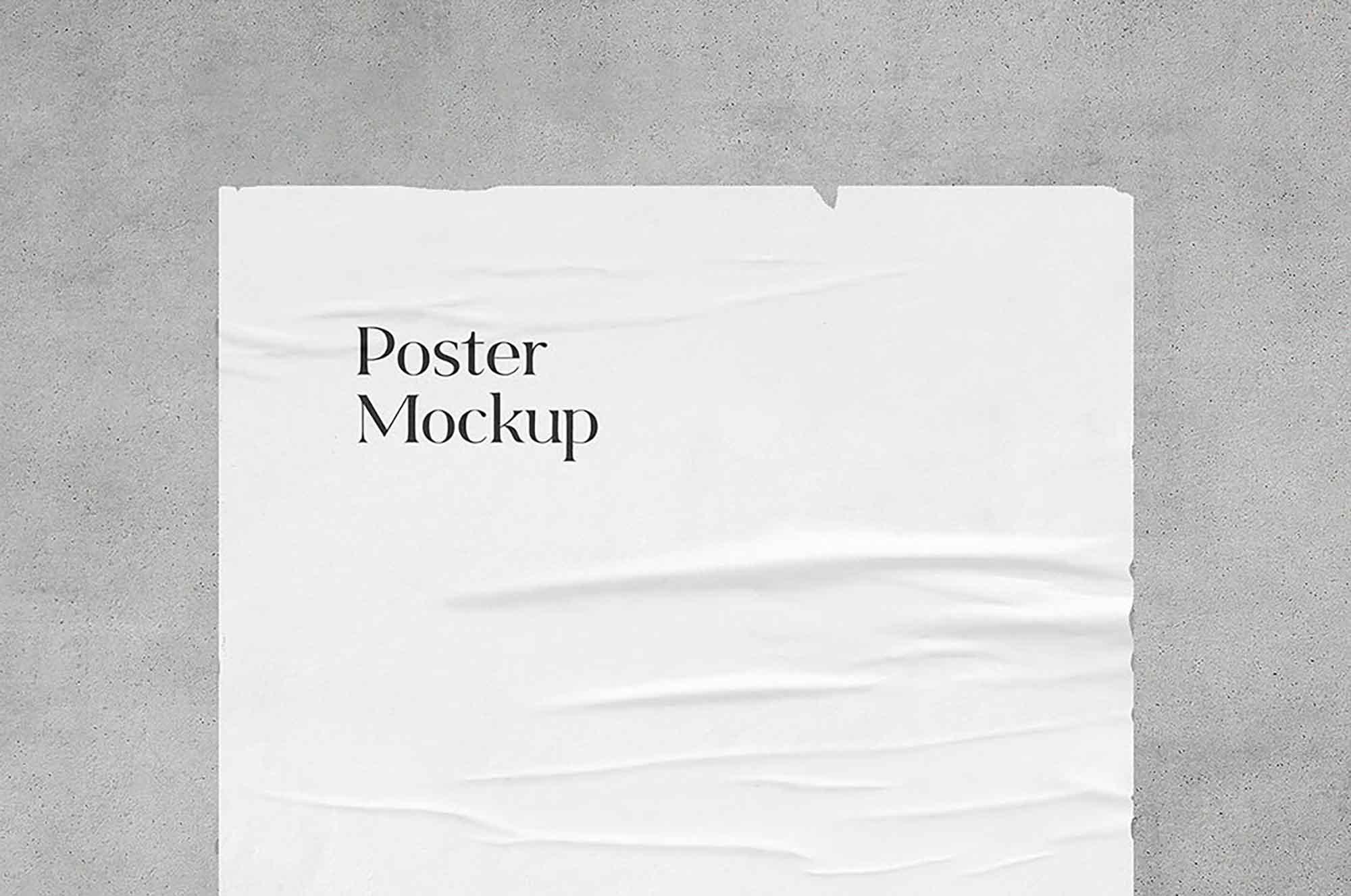 Glued Poster Mockup 3