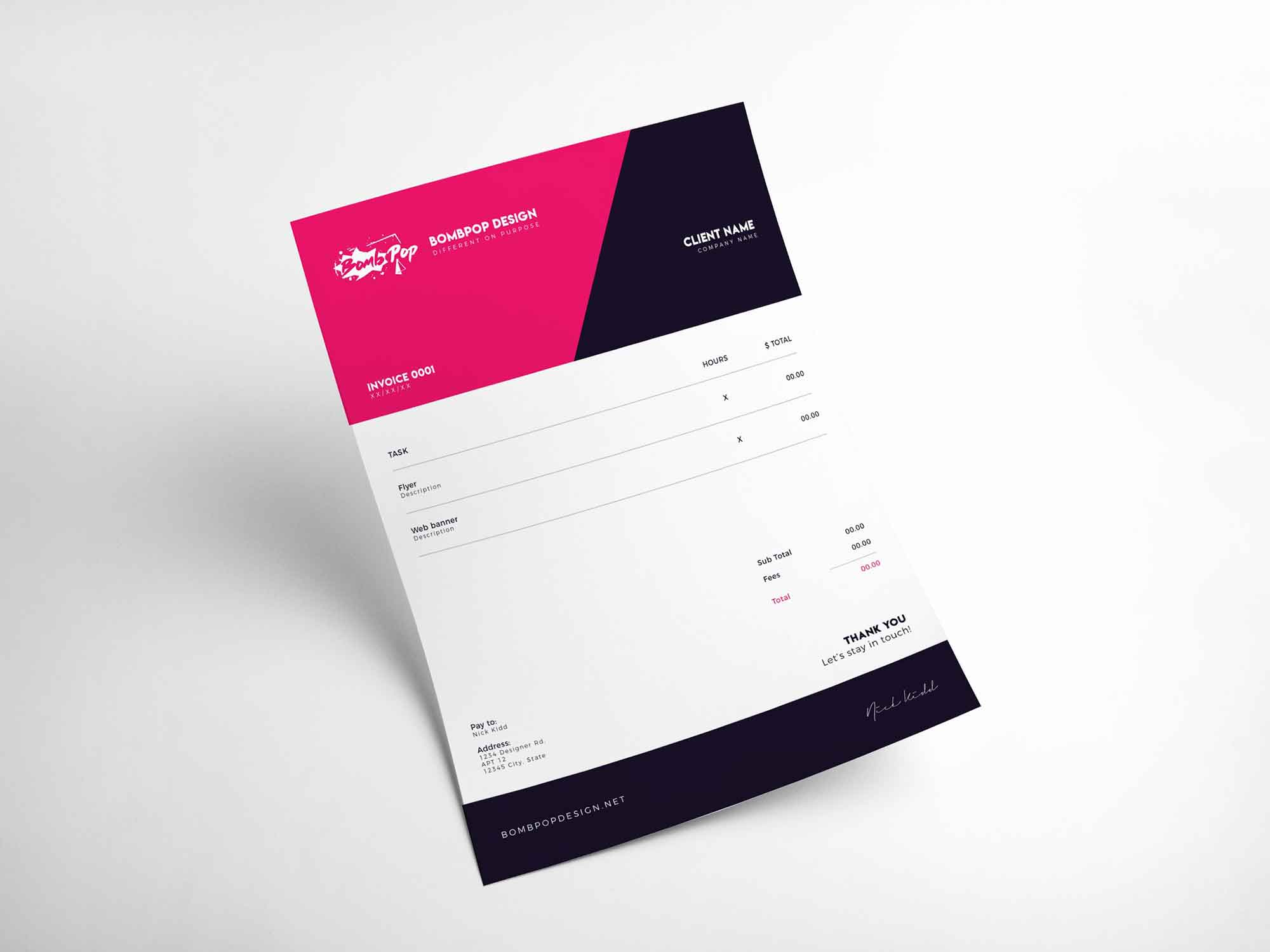 2 Free Invoice Templates Indd