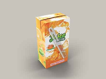Juice Drink Packaging Mockup