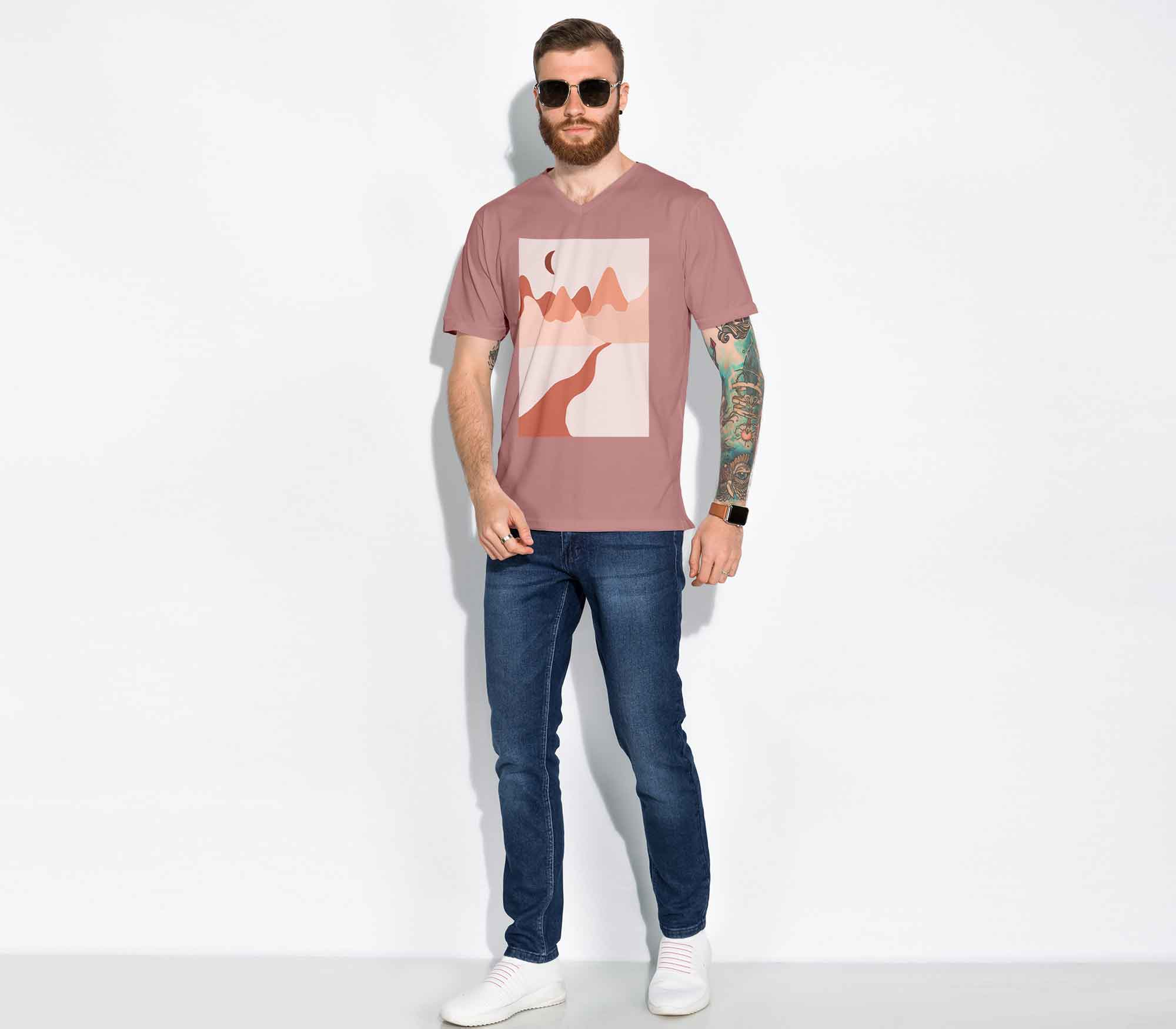 Male T-Shirt Fashion Mockup