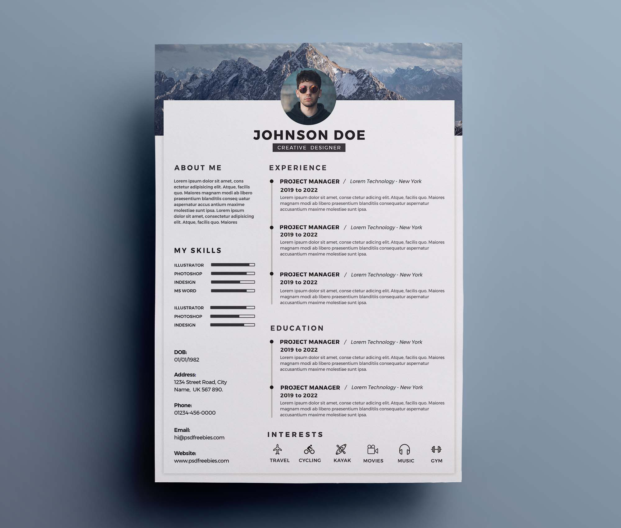 One-Page Clean Resume Template