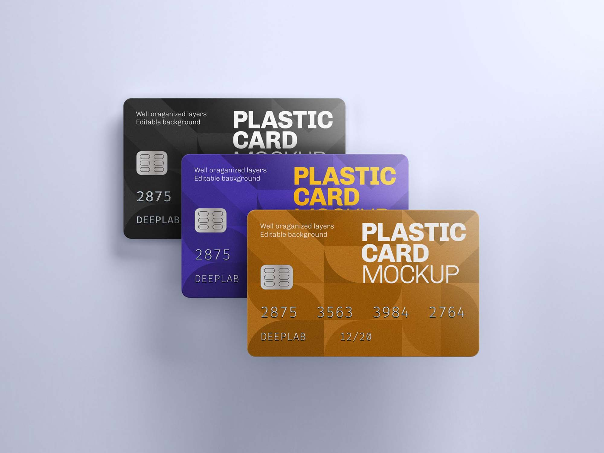 Plastic Credit Card Mockup 2