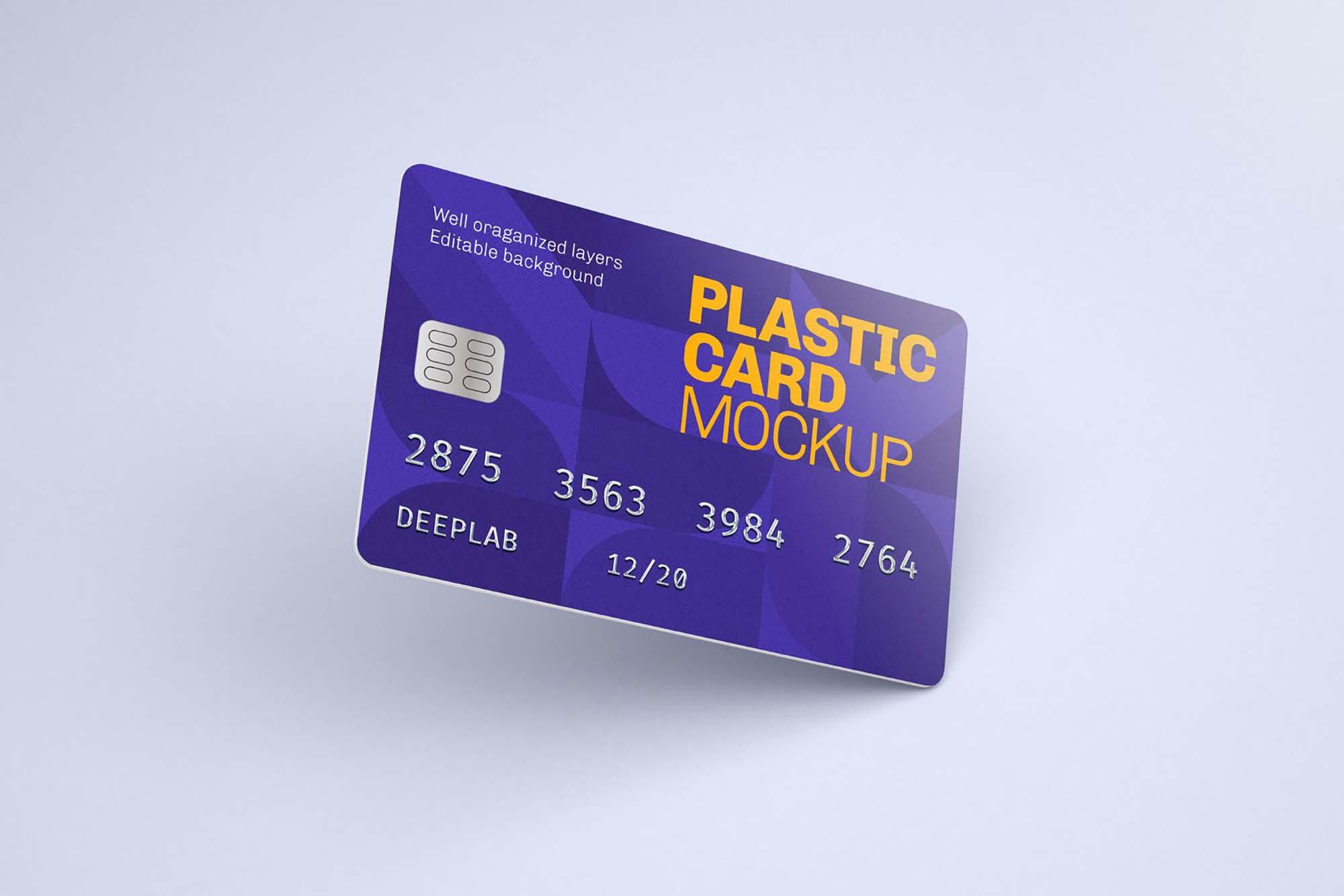 Plastic Credit Card Mockup 3