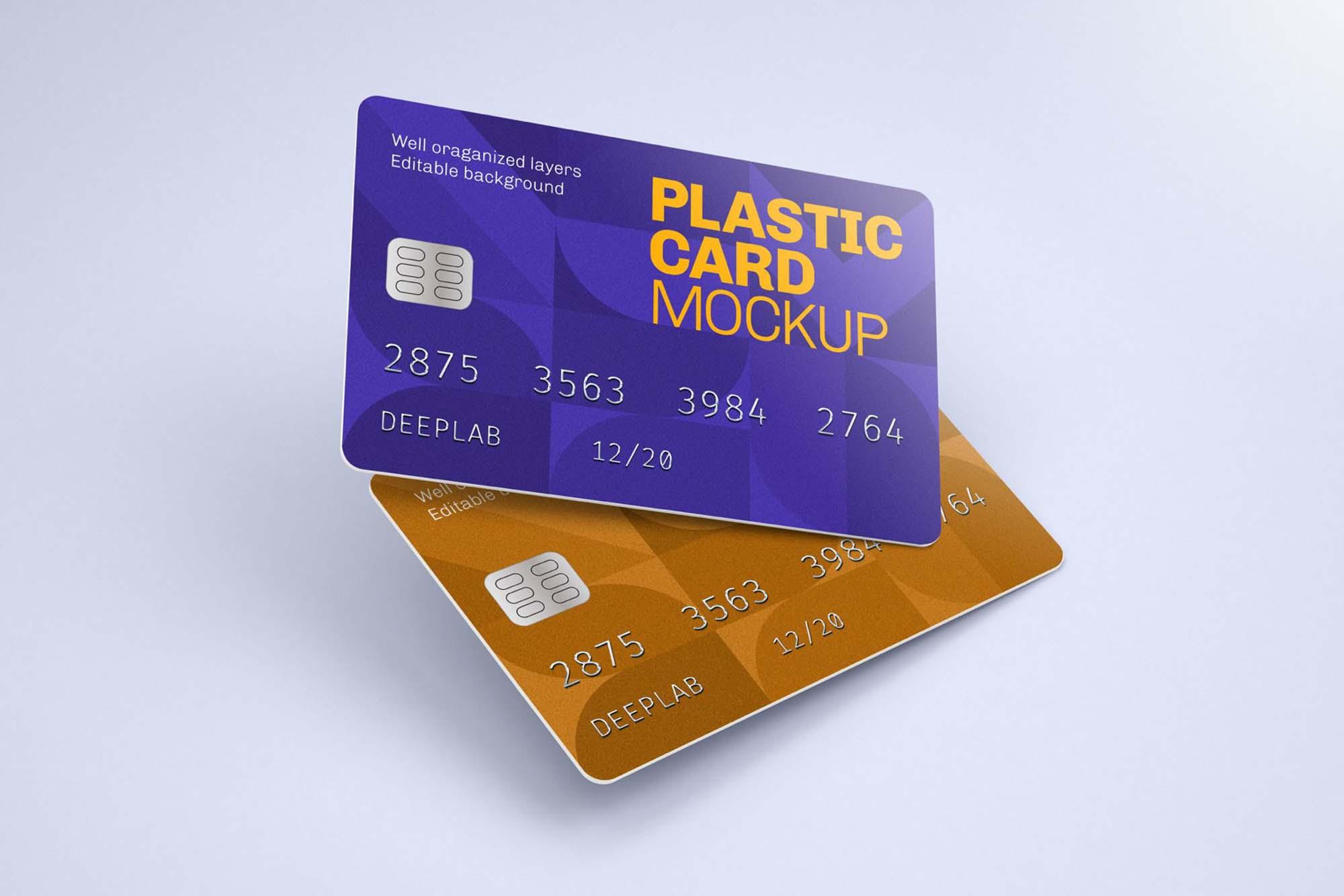 Plastic Credit Card Mockup