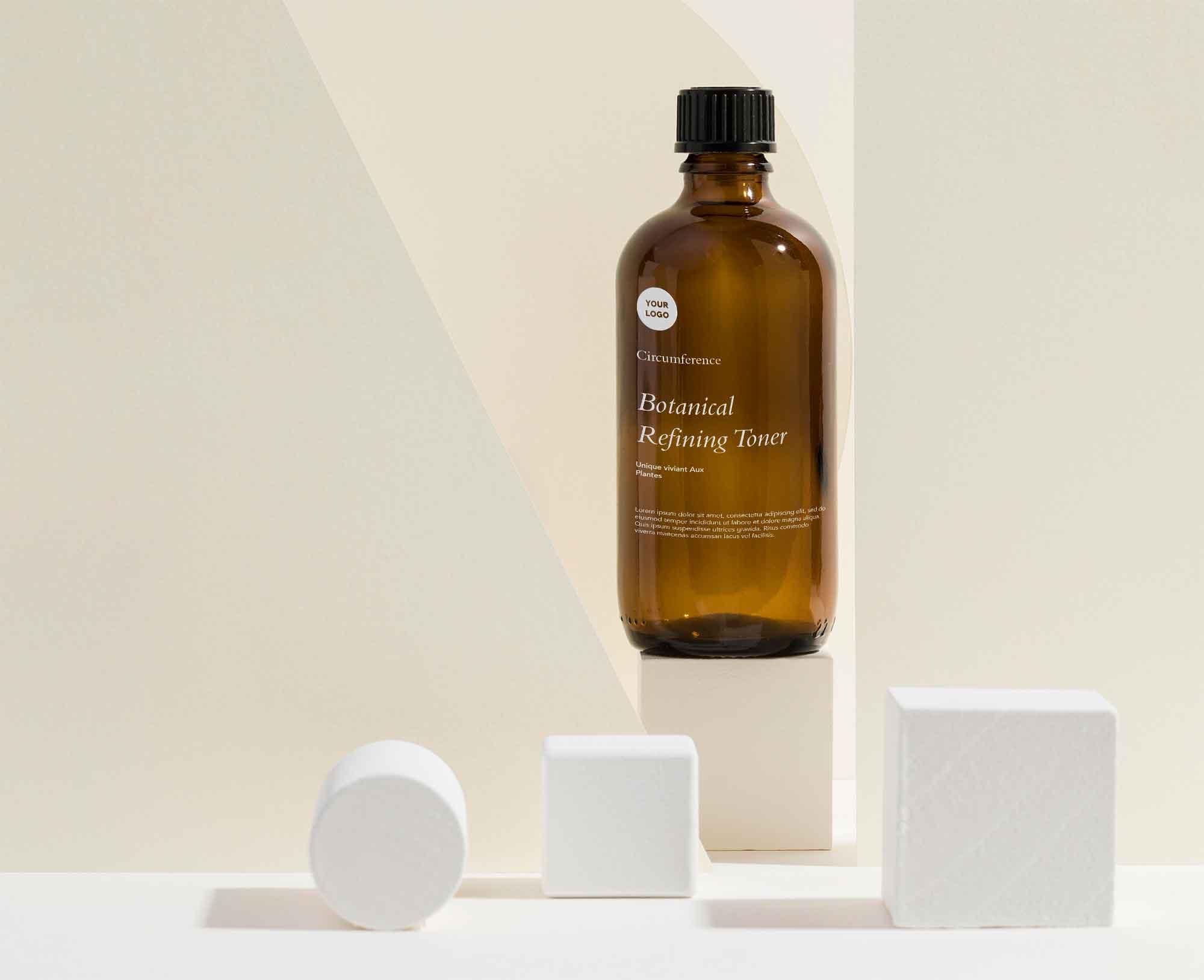 Skin Care Bottle Mockup