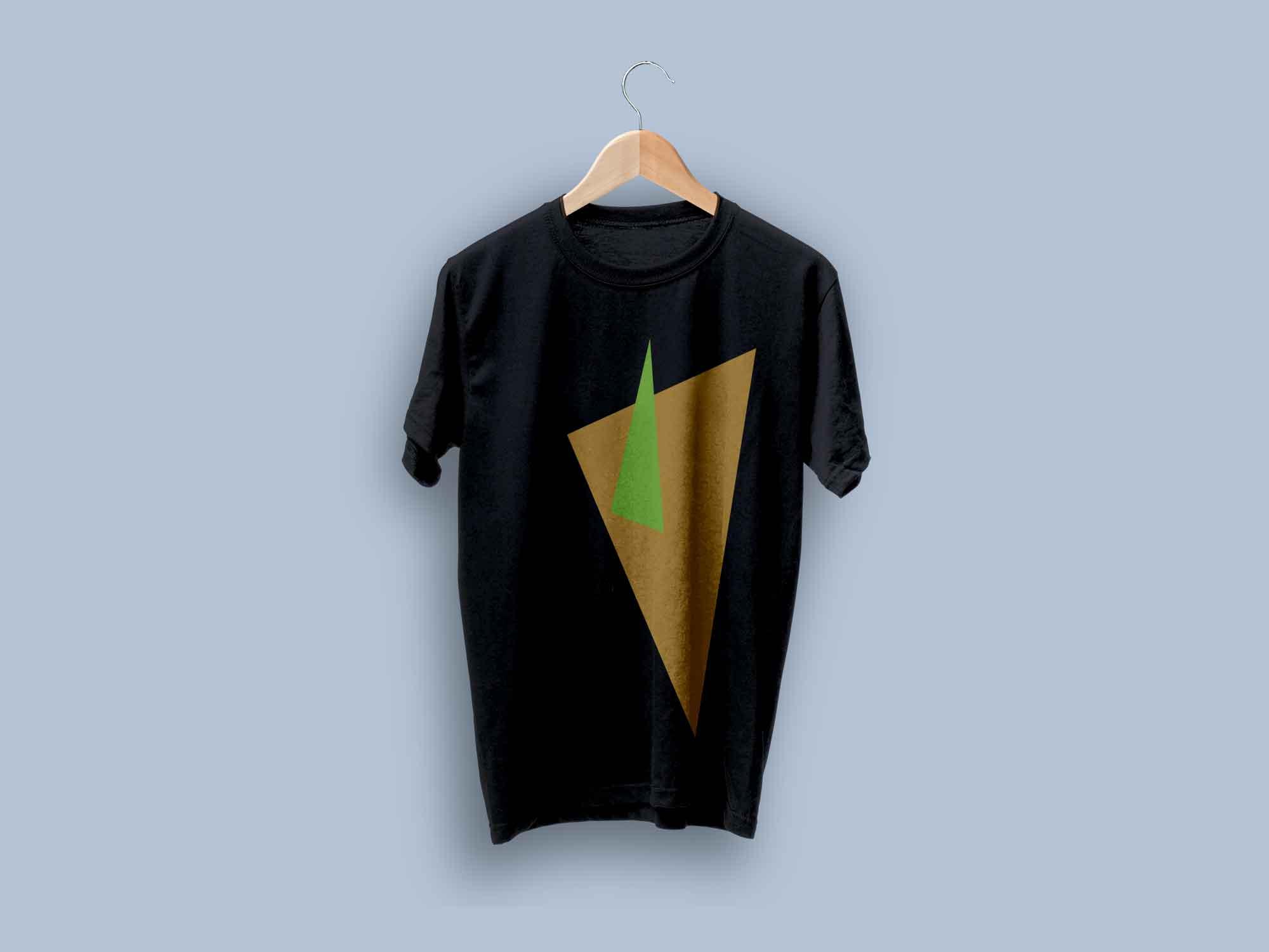 T-shirt Set on Hanger Mockup