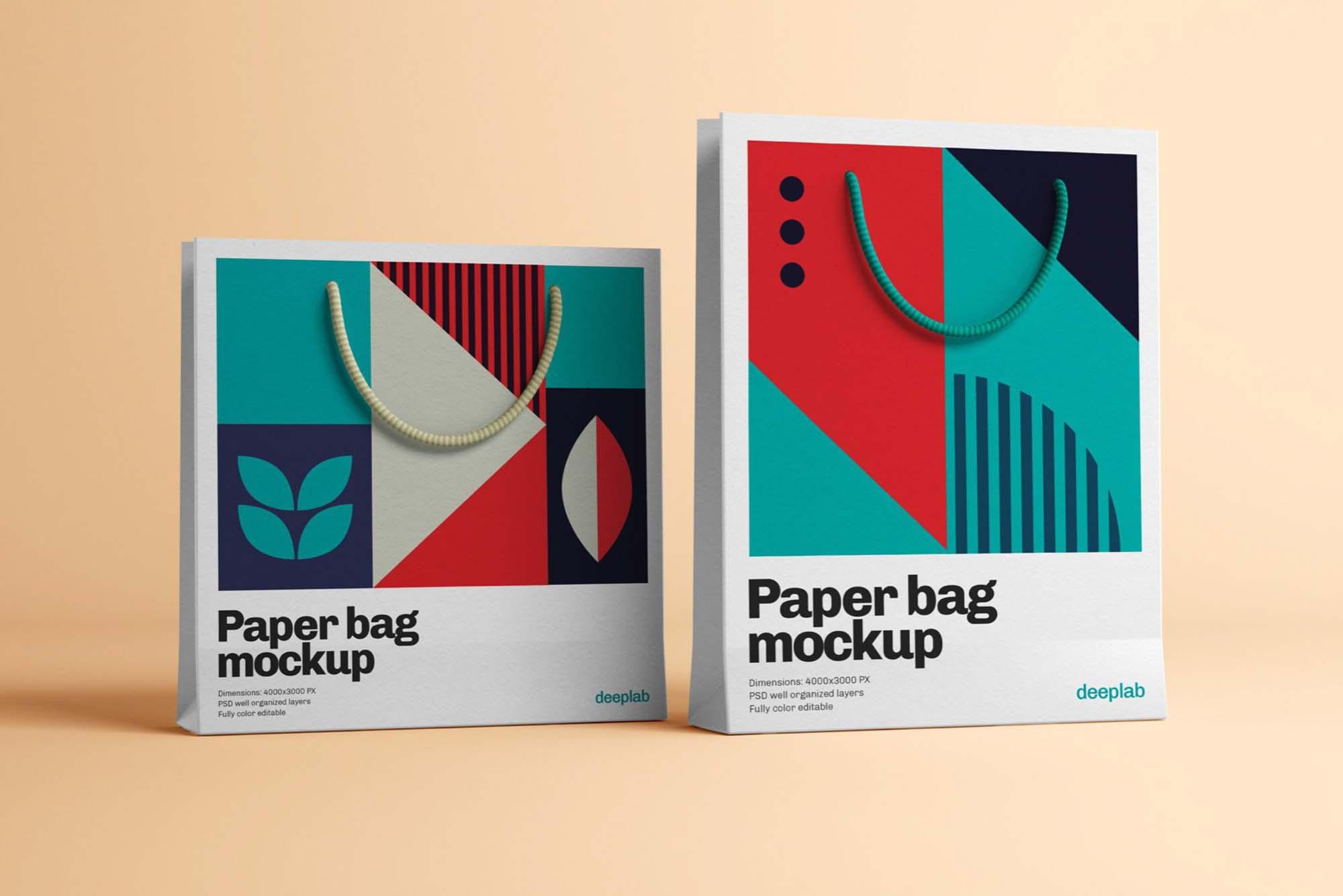 Two Paper Bag Mockups