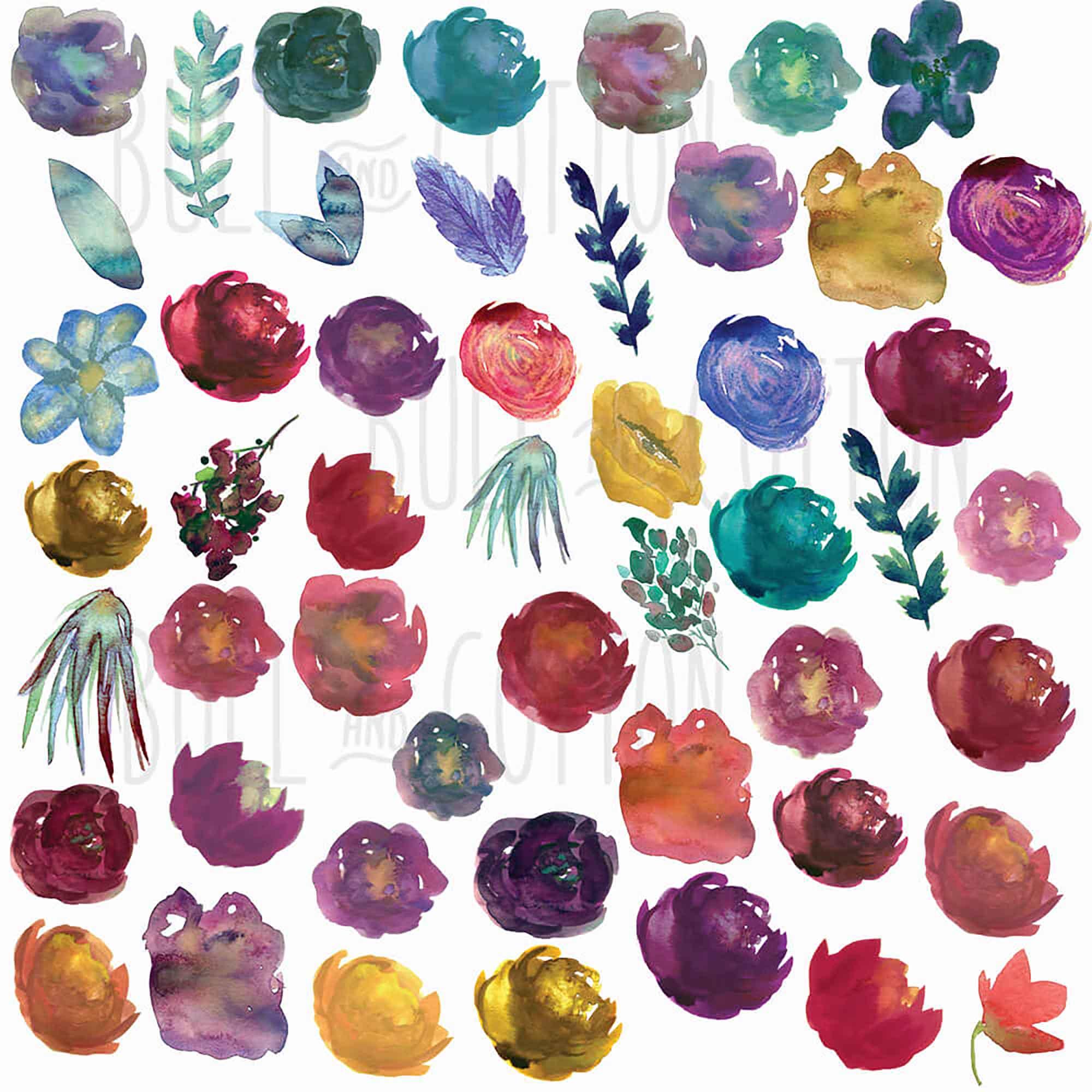 Vibrant Wildflower Design Elements 2